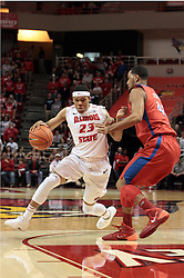 07 December 2013: Zach Lofton  during an NCAA mens basketball game. The Illinois State Redbirds beat the 25th ranked Dayton Flyers 81-75 in Redbird Arena, Normal IL