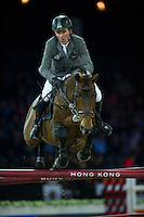 Ludger Beerbaum on Chaman competes during Longines Speed Challenge at the Longines Masters of Hong Kong on 20 February 2016 at the Asia World Expo in Hong Kong, China. Photo by Juan Manuel Serrano / Power Sport Images