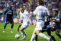 Fotball<br /> Frankrike<br /> Foto: Dppi/Digitalsport<br /> NORWAY ONLY<br /> <br /> FOOTBALL - UEFA CUP 2006/2007 - 1ST ROUND - 2ND LEG - FK MLADA BOLESLAV v OLYMPIQUE MARSEILLE - 28/09/2006<br /> <br /> RADIM HOLUB (MLA) / BOSTJAN CESAR / HABIB BEYE (OM)