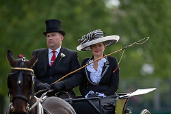 Participants head to the arena before Champagne Laurent-Perrier Meet of the British Driving Society during the Royal Windsor Horse Show at Windsor Castle, Berkshire.
