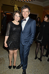 Choirmaster and broadcaster GARETH MALONE and his wife BECKY at a reception to celebrate the Debrett's 500 2015 - a recognition of Britain's 500 most influential people, held at The Club at The Cafe Royal, 68 Regent Street, London on 26th January 2015.