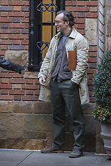 Jude Law shooting new Woody Allen film in the West Village - 18 Oct 2017