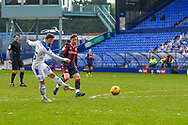 GOAL 1-0!! Tranmere Rovers midfielder Danny Lloyd scores during the EFL Sky Bet League 2 match between Tranmere Rovers and Bolton Wanderers at Prenton Park, Birkenhead, England on 23 January 2021.