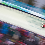 Winter Olympics, Vancouver, 2010.Kaillie Humphries ard Heather Moyse, Canada, in action during the Bobsleigh Women's heat one competition at Whistler Sliding Centre, Whistler, during the Vancouver Winter Olympics. 23rd February 2010. Photo Tim Clayton