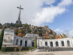 November 20, 2018 - San Lorenzo De El Escorial, Madrid, Spain - Thousands of people visit the Valley of the Fallen on t on November 20, 2018 in San Lorenzo de El Escorial, near Madrid, Spain, the date on which marks 43 years of the death of the dictator Francisco Franco. The influx this year has been greater than in previous ones because the next dictator will no longer be in his grave. (Credit Image: © Alvaro Fuente/NurPhoto via ZUMA Press)