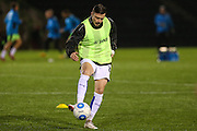 Tranmere Rovers Andrew Mangan(19) warming up during the Vanarama National League match between Forest Green Rovers and Tranmere Rovers at the New Lawn, Forest Green, United Kingdom on 22 November 2016. Photo by Shane Healey.