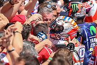 Ducati's Team rider Italian Andrea Dovizioso, winner  the Moto GP Grand Prix at the Mugello race track on June 4, 2017.<br /> Photo by Danilo D'Auria.<br /> <br /> Danilo D'Auria/UK Sports Pics Ltd/Alterphotos