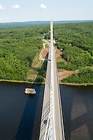 Penobsctot Narrows Bridge and Observation Tower, Prospect, Maine, USA.