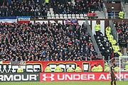 Fussball: 2. Bundesliga, FC St. Pauli - Holstein Kiel, Hamburg, 28.10.2018<br /> Kiel-Fans und Sicherheitskraefte, Polizei<br /> © Torsten Helmke