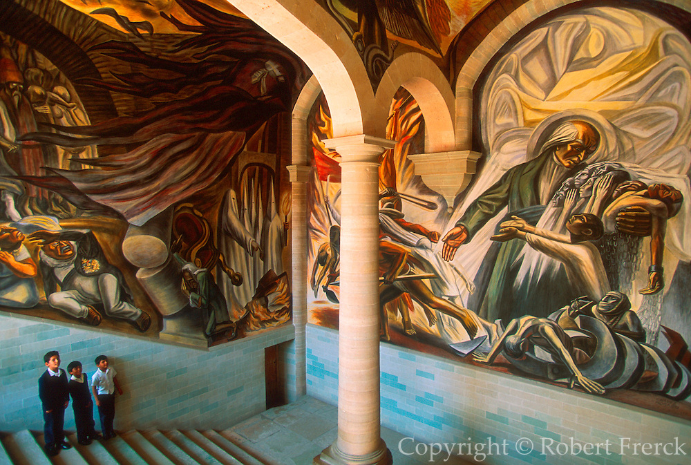 MEXICO, GUANAJUATO murals in the Alhondiga de Granaditas