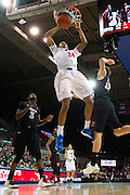 DALLAS, TX - FEBRUARY 6: Ben Moore #34 of the SMU Mustangs dunks the ball against the Temple Owls on February 6, 2014 at Moody Coliseum in Dallas, Texas.  (Photo by Cooper Neill) *** Local Caption *** Ben Moore