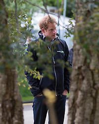 © Licensed to London News Pictures 18/05/2015.  Prince Harry visits the Sentebale - Hope in Vulnerability garden with designer Matt Keightley at the 2015 Chelsea Flower Show in London. Sentebale is a charity founded by Prince Harry and Prince Seeiso of Lesotho. Photo credit: Graham Eva/LNP