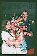 Nenna Eberstadt & Geordie Greig, Piers Gaveston Ball. Oxford Town Hall. Oxford. 1981<br /> <br /> Copyright Photograph by Dafydd Jones<br /> 66 Stockwell park Rd. London SW9 0DA<br /> Tel. 0171 733 0108