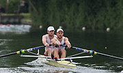 Henley-on-Thames. United Kingdom.  <br /> Silver Goblets and Nickalls' Challenge Cup. Mercantile RC and Melbourne University. AUS AUS M2-. Bow. Joshua DUNKLEY-SMITH and J. BOOTH<br />  <br /> 2017 Henley Royal Regatta, Henley Reach, River Thames. <br /> <br /> 12:10:56  Saturday  01/07/2017   <br /> <br /> [Mandatory Credit. Peter SPURRIER/Intersport Images.