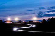 June 16-17, 2018: 24 hours of Le Mans. Night racing action during Le Mans