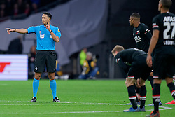 Referee Serder Gozubuyuk in action during the Dutch Eredivisie match round 25 between Ajax Amsterdam and AZ Alkmaar at the Johan Cruijff Arena on March 01, 2020 in Amsterdam, Netherlands