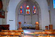 Israel, Tel Aviv, Jaffa, Interior of the Immanuel Lutheran Church. The church was built in 1904