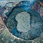 Aerial view of Kiluea Volcano, Hawaii Volcanoes National Park.
