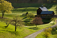 Early morning light graces the Cloudland Farm in Woodstock, VT.