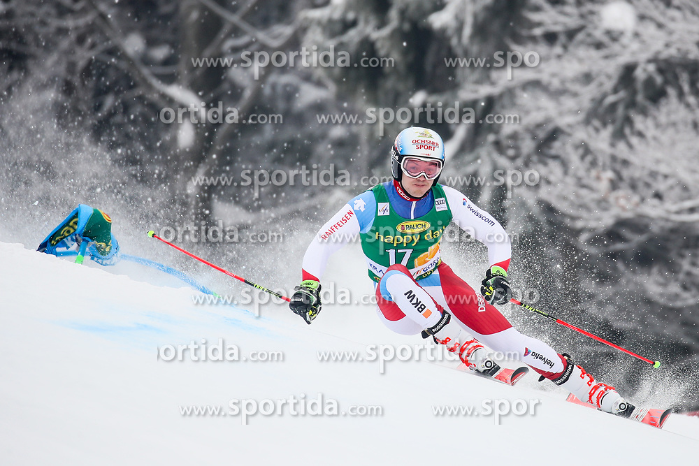 Loic Meillard of Switzerland competes during 1st run of Men's GiantSlalom race of FIS Alpine Ski World Cup 57th Vitranc Cup 2018, on March 3, 2018 in Kranjska Gora, Slovenia. Photo by Ziga Zupan / Sportida