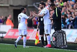 Borja Gonzalez of Swansea City replaces Leon Britton of Swansea City - Mandatory by-line: Alex James/JMP - 22/04/2017 - FOOTBALL - Liberty Stadium - Swansea, England - Swansea City v Stoke City - Premier League
