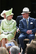 Sydney, Australia, 13th March 2006. Prince Philip seated next to Queen Elizabeth 11 at the Sydney Opera House. The Queen was here to open the newest edition and first major alteration to the Opera House since it was built. The alteration is a colonnade that runs along the western side of the Sydney Opera House's massive platform. The Opera House's exterior had remained unchanged since it was first opened by Her Majesty Queen Elizabeth 11 on 20th Oct 1973.