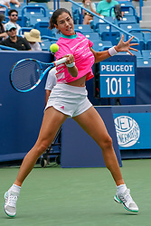 August 15, 2018 - Mason, Ohio, USA - Garbine Muguruza (ESP) in action during Wednesday's second round of the Western and Southern Open at the Lindner Family Tennis Center, Mason, Oh. (Credit Image: © Scott Stuart via ZUMA Wire)