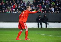 TRONDHEIM, NORWAY - NOVEMBER 02, 2017. UEFA Europa League, round 4: Rosenborg BK (Norway) 1-1 Zenit St Petersburg (Russia). Rosenborg goalkeeper Andre Hansen.