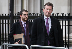 © Licensed to London News Pictures. 08/12/2016. London, UK. Attorney General Jeremy Wright QC (R) arrives at the Supreme Court in Westminster, London, for the fourth and final day of the government's appeal against an earlier High Court ruling, on the process for invoking Article 50 to leave the European Union. The High Court decision of 3 November 2016, in favour of lead claimant Gina Miller, ruled that parliament must be given a vote before Brexit negotiations can begin. Photo credit: Rob Pinney/LNP