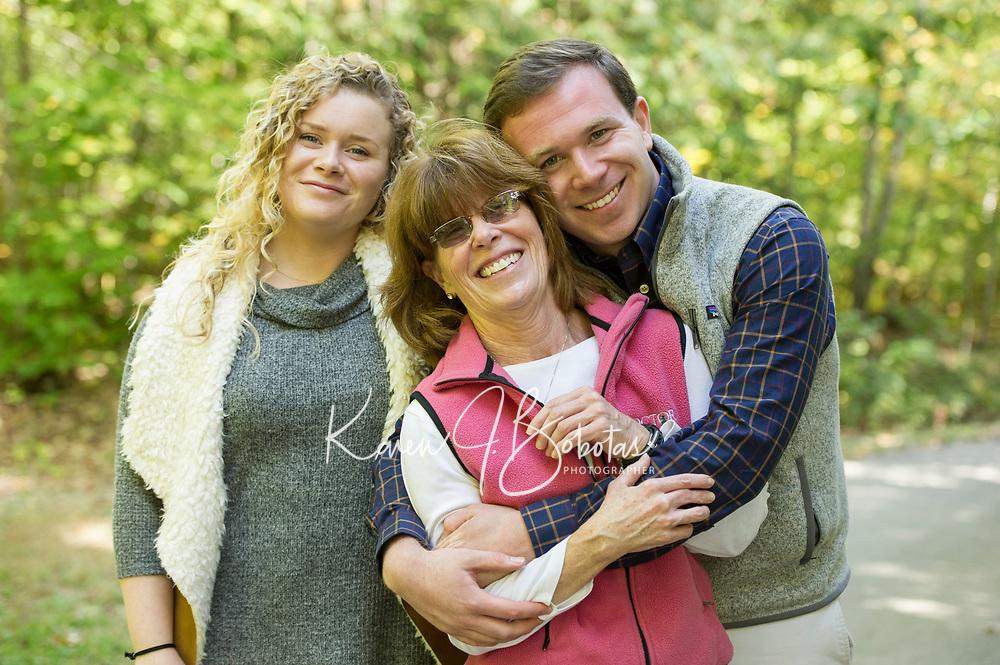 Celeste and Family portrait session.  ©2018 Karen Bobotas Photographer