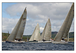 The third days racing at the Bell Lawrie Yachting Series in Tarbert Loch Fyne, Perfect conditions finally arrived for competitors on the three race courses...Swan 45 Fleet with .GBR945R Fever, Gordon / Diderichs , RORC.GBR92R Murka 2 , Mikhail Mouratov RSYC.GBR9050 Piper at the Gates , Charles Swingland RSYC.GBR6R Crackerjack , Keith Miller CCC / RYS ..