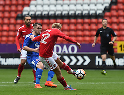 Charlton Athletic's Ben Reeves scores their first goal
