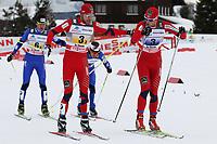 Petr Novak und Martin Koukal (CZE) hinter Tord Asle Gjerdalen und Petter Northug (NOR) (Pascal Muller/EQ Images)