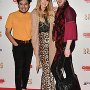 Guest, r attends Briefs: Close Encounters - press night an All-male 'Boylesque' group show off their circus skills, drag acts and raucous comedy routines at The Spiegeltent Leicester Square on 14 November 2018, London, UK.