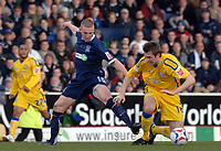 Photo: Ashley Pickering.<br />Southend United v Leicester City. Coca Cola Championship. 03/03/2007.<br />Freddy Eastwood of Southend (L) challenges Gareth McAuley of Leicester for the ball