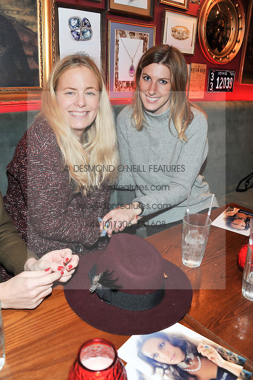 Left to right, ASTRID HARBORD and SUSANNA WARREN at a party to celebrate the best of W&W Jewellery held at Barts, 87 Sloane Avenue, London on 26th November 2012.