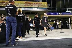 November 26, 2017 - Abu Dhabi, United Arab Emirates - Motorsports: FIA Formula One World Championship 2017, Grand Prix of Abu Dhabi, . Mercedes AMG Petronas F1 Team celebrates World Championship, #77 Valtteri Bottas (FIN, Mercedes AMG Petronas F1 Team), Emilia Pikkarainen  (Credit Image: © Hoch Zwei via ZUMA Wire)