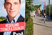 Nederland, Amsterdam, 2-9-2012Een affiche, verkiezingsaffiche van pvda lijsttrekker Diederik Samsom.Foto: Flip Franssen/Hollandse Hoogte