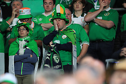 A Republic of Ireland fan looks dejected during the League B, Group four match at Cardiff City Stadium. PRESS ASSOCIATION Photo. Picture date: Thursday September 6, 2018. See PA story SOCCER Wales. Photo credit should read: Mike Egerton/PA Wire. RESTRICTIONS: Editorial use only, No commercial use without prior permission.