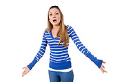Angry and frustrated Young teen girl