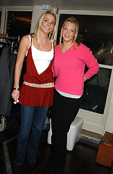 Left to right, sisters the HON.KIRSTY HAMILTON-SMITH and the HON.TANYA HAMILTON-SMITH daughters of Lord Colwyn at the launch of a new bar Bardo, 101-105 Walton Street, London SW3 on 29th November 2005.<br /><br />NON EXCLUSIVE - WORLD RIGHTS