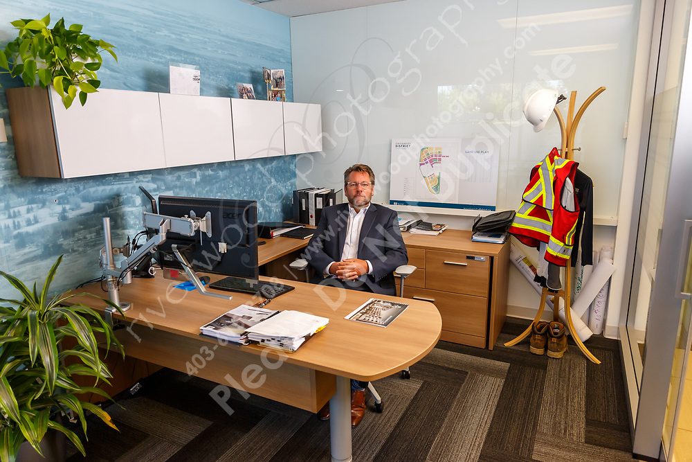 On-location commercial advertising photography for an advertising campaign and supporting article in the Business in Calgary magazine as well as for use on the company website and social media accounts.<br /> <br /> ©2019, Sean Phillips<br /> http://www.RiverwoodPhotography.com