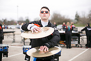 Shadow Indoor Percussion competes at WGI prelims at Millett Hall at Miami University in Oxford, Ohio on April 10, 2015.
