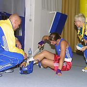 2. WOMEN'S WORLD BOXING CHAMPIONSHIPS.<br /> Swede's Laurel Anna (C) after the match. Dilek Sabanci Sport Hall Antalya/Turkey<br /> Photo by Aykut AKICI/TurkSporFoto