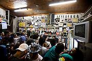 Belo Horizonte_MG, 20 de fevereiro de 2012.<br /> <br /> Belotur_Carnaval BH<br /> <br /> O bloco de carnaval Filhos de Tcha Tcha desfila pelas ruas do bairro Santa Tereza, bairro tradicional da capital. <br /> <br /> Foto: NIDIN SANCHES / NITRO