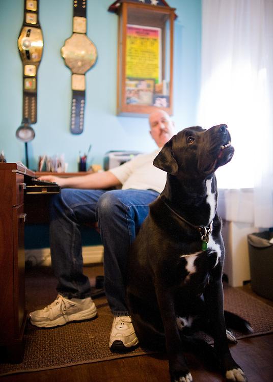 Joe TNT Olsavsky and his dog Taz