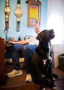 Joe TNT Olsavsky and his dog Taz