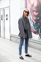Street style, arriving at Ida Klamborn Spring Summer 2017 show held at The Black Box, Regeringsgatan 65, in Stockholm, Sweden, on August 30th, 2016. Photo by Marie-Paola Bertrand-Hillion/ABACAPRESS.COM