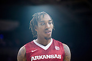 DALLAS, TX - NOVEMBER 25: Michael Qualls #24 of the Arkansas Razorbacks looks on against the SMU Mustangs on November 25, 2014 at Moody Coliseum in Dallas, Texas.  (Photo by Cooper Neill/Getty Images) *** Local Caption *** Michael Qualls