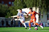 Fotball , Eliteserien<br /> 12.07.2021 , 20210712<br /> Grorud - Aalesund<br /> Aalesunds Sigurd Hauso Haugen scorer målet til 2-0 <br /> Foto: Sjur Stølen / Digitalsport